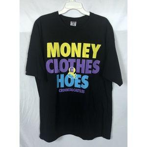 Crooks & Castles Black Graphic T-Shirt Men's XL